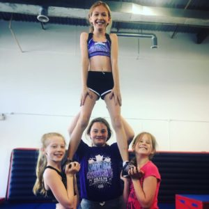 Barrie Cheerleading Stunt